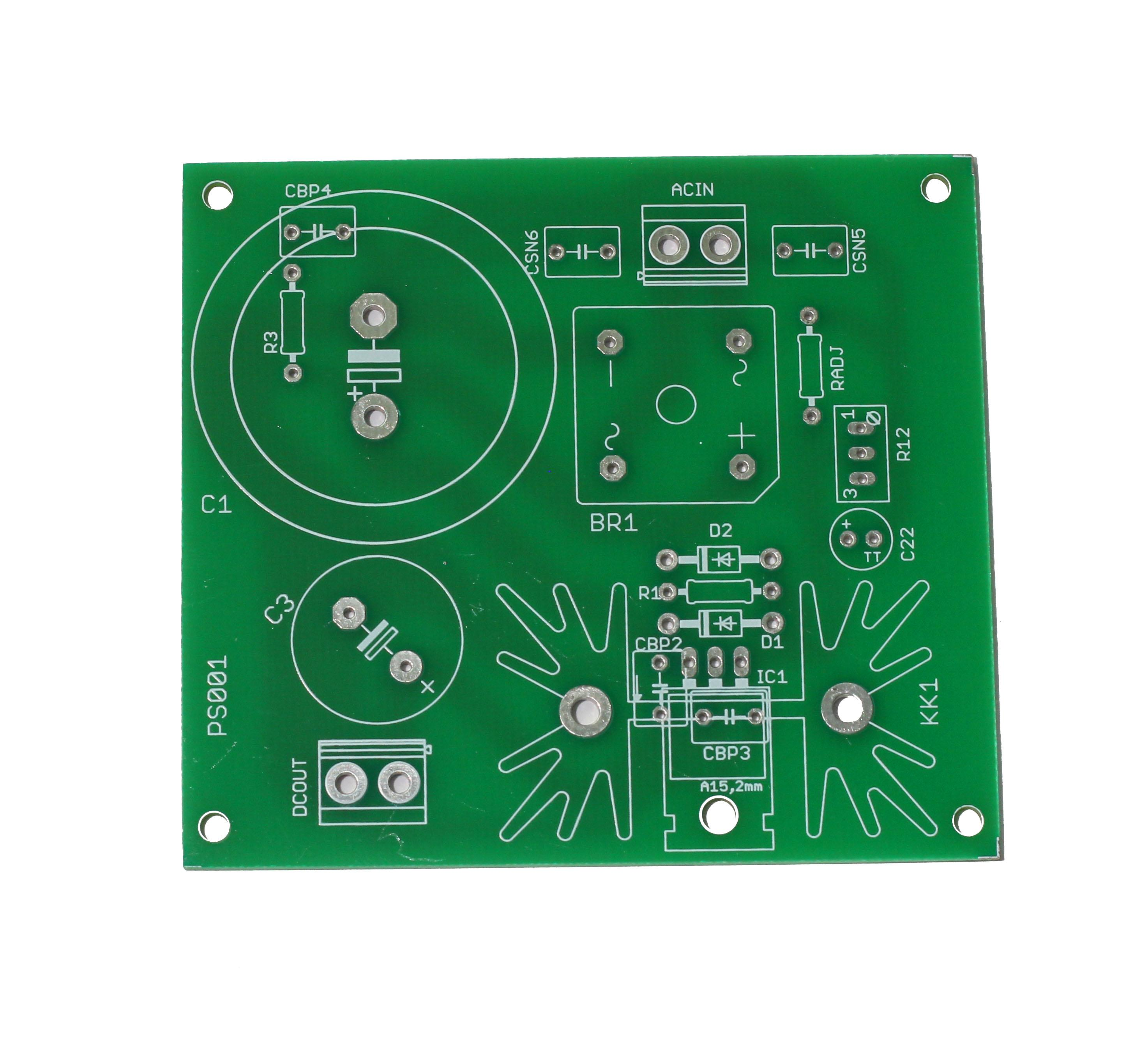 Lm338 Regulated Supply Pcb